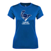 Ladies Syntrel Performance Royal Tee-Mascot Cabrini Cavaliers