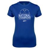 Ladies Syntrel Performance Royal Tee-2019 National Mens Lacrosse Champions