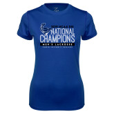 Ladies Syntrel Performance Royal Tee-2019 Mens Lacrosse NCAA DIII Champions