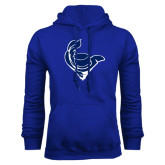 Royal Fleece Hoodie-Mascot Head