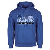Royal Fleece Hoodie-2019 Mens Lacrosse NCAA DIII Champions