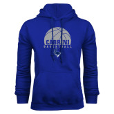 Royal Fleece Hoodie-Basketball on Top