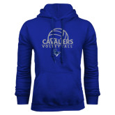 Royal Fleece Hoodie-Volleyball on Top