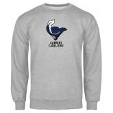 Grey Fleece Crew-Mascot Cabrini Cavaliers