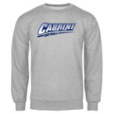 Grey Fleece Crew-Cabrini Softball