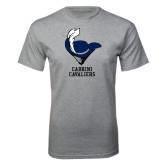 Grey T Shirt-Mascot Cabrini Cavaliers