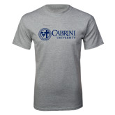 Grey T Shirt-Cabrini University Mark