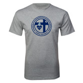 Grey T Shirt-Cabrini University Seal