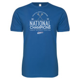 Next Level SoftStyle Royal T Shirt-2019 National Mens Lacrosse Champions