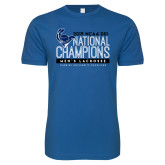 Next Level SoftStyle Royal T Shirt-2019 Mens Lacrosse NCAA DIII Champions