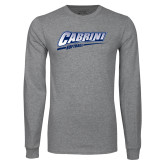 Grey Long Sleeve T Shirt-Cabrini Softball