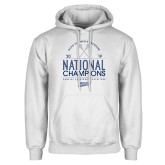 White Fleece Hoodie-2019 National Mens Lacrosse Champions