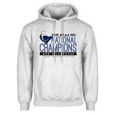 White Fleece Hoodie-2019 Mens Lacrosse NCAA DIII Champions