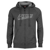 Charcoal Fleece Full Zip Hoodie-Primary Logo