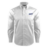 Red House White Dobby Long Sleeve Shirt-Primary Logo