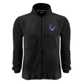Fleece Full Zip Black Jacket-Mascot Head