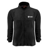 Fleece Full Zip Black Jacket-Cabrini University Mark
