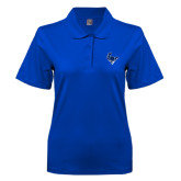 Ladies Easycare Royal Pique Polo-Mascot Head