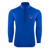 Sport Wick Stretch Royal 1/2 Zip Pullover-Mascot Head