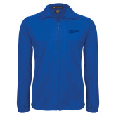 Fleece Full Zip Royal Jacket-Primary Logo Engraved