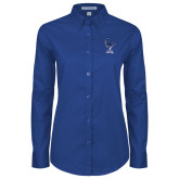 Ladies Royal Twill Button Down Long Sleeve-Mascot Cabrini Cavaliers