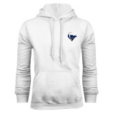 White Fleece Hoodie-Mascot Head