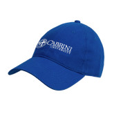 Royal Twill Unstructured Low Profile Hat-Cabrini University Mark