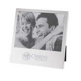Silver Two Tone 5 x 7 Vertical Photo Frame-Cabrini University Mark Engraved