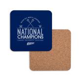 Hardboard Coaster w/Cork Backing-2019 National Mens Lacrosse Champions