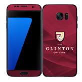 Samsung Galaxy S7 Edge Skin-Clinton Stacked Logo