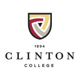 Medium Decal-Clinton Stacked Logo, 8 inches wide