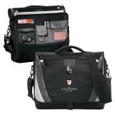 Slope Black/Grey Compu Messenger Bag-Clinton Stacked Logo
