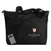 Excel Black Sport Utility Tote-Clinton Stacked Logo