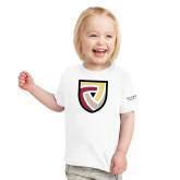 Toddler White T Shirt-Clinton Shield Logo