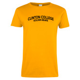 Ladies Gold T Shirt-Collegiate Design