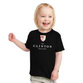 Toddler Black T Shirt-Clinton Stacked Logo