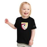 Toddler Black T Shirt-Clinton Shield Logo
