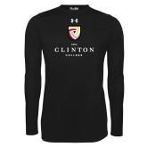 Under Armour Black Long Sleeve Tech Tee-Clinton Stacked Logo
