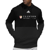 Adidas Black Team Issue Hoodie-Clinton Horizontal Logo