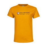 Youth Gold T Shirt-Clinton Horizontal Logo