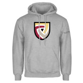 Grey Fleece Hoodie-Clinton Shield Logo