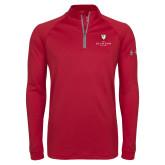 Under Armour Cardinal Tech 1/4 Zip Performance Shirt-Clinton Stacked Logo