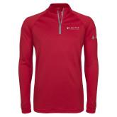 Under Armour Cardinal Tech 1/4 Zip Performance Shirt-Clinton Horizontal Logo