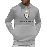 Adidas Grey Team Issue Hoodie-Clinton Stacked Logo