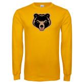 Gold Long Sleeve T Shirt-Clinton Bear Logo