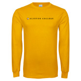 Gold Long Sleeve T Shirt-Clinton College