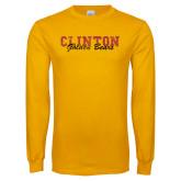 Gold Long Sleeve T Shirt-Clinton College Golden Bears