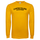 Gold Long Sleeve T Shirt-Collegiate Design