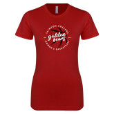 Next Level Ladies SoftStyle Junior Fitted Cardinal Tee-Womens Basketball