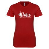 Next Level Ladies SoftStyle Junior Fitted Cardinal Tee-Dance